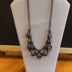 Gunmetal Necklace made of Hardware Nuts